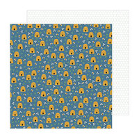 Pebbles - The Avenue Collection - 12 x 12 Double Sided Paper - Honeycomb Ct.