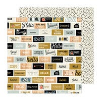Pebbles - The Avenue Collection - 12 x 12 Double Sided Paper - Welcome Home