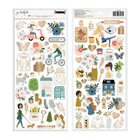 Pebbles - The Avenue Collection - 6 x 12 Cardstock Stickers with Gold Foil Accents
