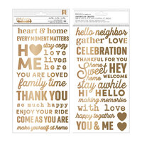 Pebbles - The Avenue Collection - Thickers - Phrase - Puffy - Gold Foil