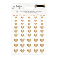 Pebbles - The Avenue Collection - Stickers - Puffy Hearts with Gold Foil Accents
