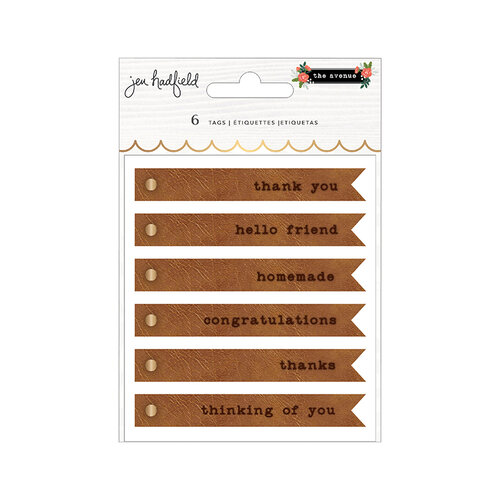 Pebbles - The Avenue Collection - Embossed Faux Leather Tags