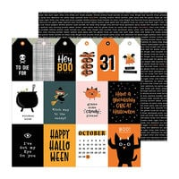 Pebbles - Spoooky Collection - 12 x 12 Double Sided Paper - October 31