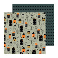 Pebbles - Spoooky Collection - 12 x 12 Double Sided Paper - Trick or Treat