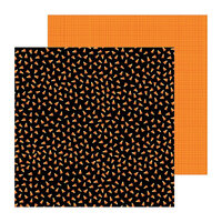 Pebbles - Spoooky Collection - 12 x 12 Double Sided Paper - Candy Toss