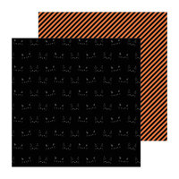 Pebbles - Spoooky Collection - 12 x 12 Double Sided Paper - Bad Luck