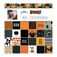 Pebbles - Spoooky Collection - 12 x 12 Paper Pad with Foil Accents