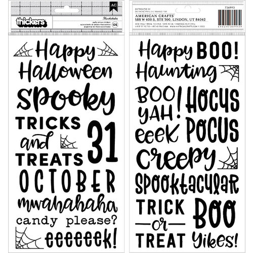 Pebbles - Spoooky Collection - Thickers - Mwahahaha - Puffy