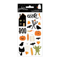 Pebbles - Spoooky Collection - Icon Puffy Stickers with Gold Foil Accents