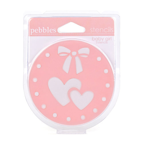 American Crafts - Pebbles - Chalk Stencils - Baby Girl