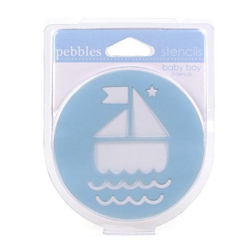 American Crafts - Pebbles - Chalk Stencils - Baby Boy