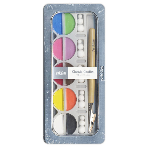 American Crafts - Pebbles - Classic Chalk Set - 10 Piece - Brights