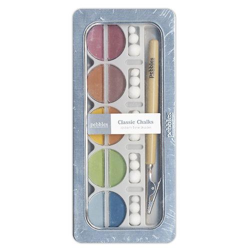 American Crafts - Pebbles - Classic Chalk Set - 10 Piece - Earth Tones