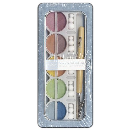 American Crafts - Pebbles - Pearlescent Chalk Set - 10 Piece - Earth Tones