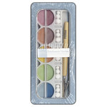 American Crafts - Pebbles - Pearlescent Chalk Set - 10 Piece - Earth Tones