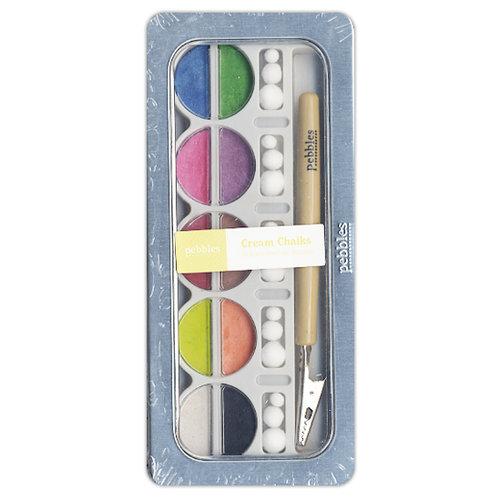American Crafts - Pebbles - Metallic Chalk Set - 10 Piece - Cream Brights
