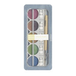 American Crafts - Pebbles - Metallic Chalk Set - 10 Piece - Cream Earth Tones