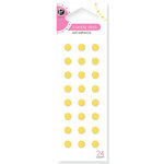 American Crafts - Pebbles - Self Adhesive Candy Dots - Sun Yellow, CLEARANCE