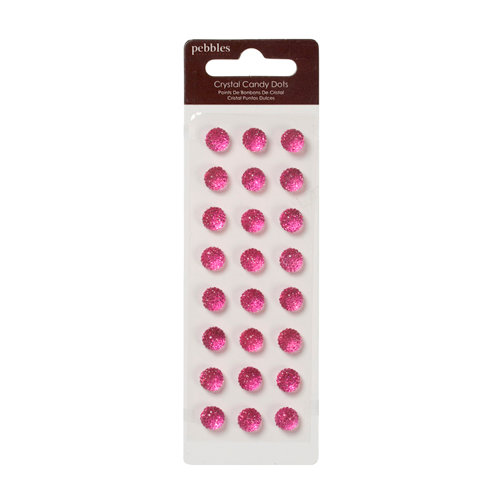 American Crafts - Pebbles - Self Adhesive Candy Dots - Crystal Taffy