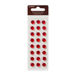 American Crafts - Pebbles - Self Adhesive Candy Dots - Crystal Rouge