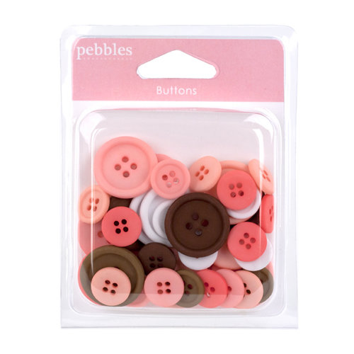 American Crafts - Pebbles - New Arrival Collection - Buttons Girl