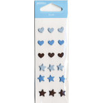 American Crafts - Pebbles - New Arrival Collection - Metal Brads - Boy