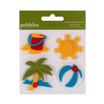 American Crafts - Pebbles - Layered Felt Embellishments - The Beach