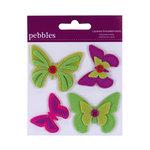 American Crafts - Pebbles - Layered Felt Embellishments - Butterflies