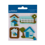 American Crafts - Pebbles - Layered Felt Embellishments - Home Sweet Home