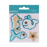 American Crafts - Pebbles - Layered Felt Embellishments - Ocean