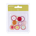 American Crafts - Pebbles - Happy Go Lucky Collection - Buttons