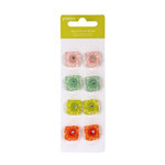 American Crafts - Pebbles - Happy Go Lucky Collection - Brads - Jewel Flower Brads