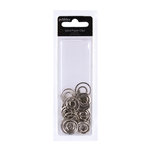American Crafts - Pebbles - Mr and Mrs Collection - Decorative Paper Clips - Spiral