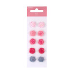 American Crafts - Pebbles - Ever After Collection - Flower Brads