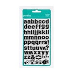 American Crafts - Pebbles - Floral Lane Collection - Clear Acrylic Stamps - Alphabet