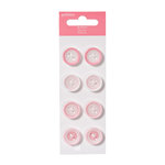 American Crafts - Pebbles - New Addition Girl Collection - Buttons