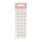 American Crafts - Pebbles - New Addition Girl Collection - Self Adhesive Candy Dots - White Buttons