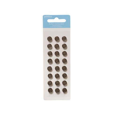 American Crafts - Pebbles - New Addition Boy Collection - Self Adhesive Candy Dots - Brown Buttons