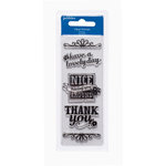 American Crafts - Pebbles - Fresh Goods Collection - Clear Acrylic Stamps - Nice Having You