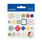 American Crafts - Pebbles - Fresh Goods Collection - Chipboard Buttons