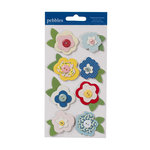 American Crafts - Pebbles - Fresh Goods Collection - Chipboard Flowers
