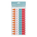 American Crafts - Pebbles - Hip Hip Hooray Collection - Glitter Flag Banner Kit