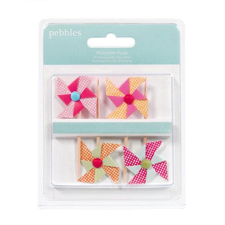 American Crafts - Pebbles - Hip Hip Hooray Collection - Pinwheels