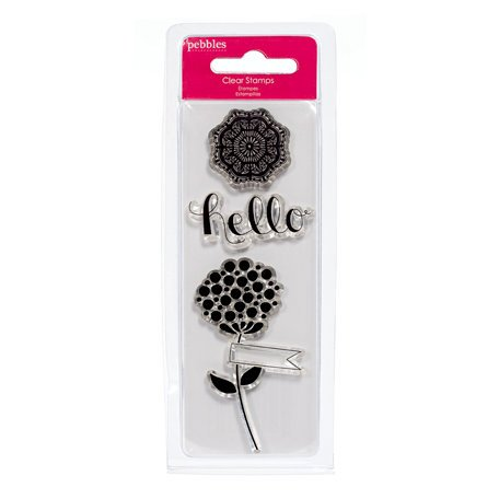 American Crafts - Pebbles - Country Picnic Collection - Clear Acrylic Stamps