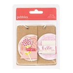American Crafts - Pebbles - Country Picnic Collection - Layered Kraft Gift Tags