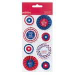 American Crafts - Pebbles - Let Freedom Ring Collection - Accordion Pennant