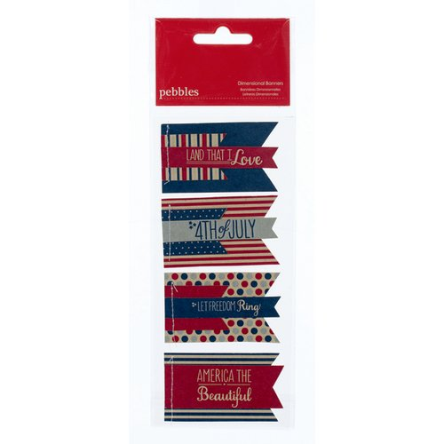 American Crafts - Pebbles - Let Freedom Ring Collection - 3 Dimensional Banners