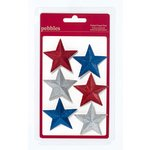 American Crafts - Pebbles - Let Freedom Ring Collection - Folded Glitter Paper Stars