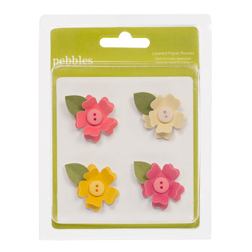 American Crafts - Pebbles - Sunnyside Collection - 3 Dimensional Flowers