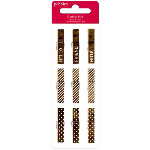 Pebbles - Walnut Grove Collection - Mini Clothes Pins
